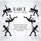 Conception de danseur d'avatar de studio de danse illustration de vecteur