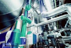 Conception de DAO d'ordinateur des canalisations pour le pla industriel moderne de puissance Image stock