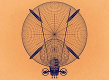 Conception de dirigeable - rétro architecte Blueprint illustration de vecteur