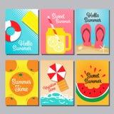 Conception de disposition d'été, livre de couverture, bannière, design de carte Image stock