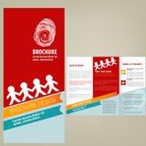 Conception de disposition de brochure de vecteur Photographie stock libre de droits