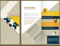 Conception de disposition de brochure de vecteur Photos stock