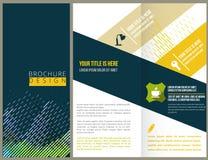 Conception de disposition de brochure de vecteur Photo stock