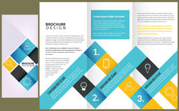 Conception de disposition de brochure de vecteur Photos libres de droits