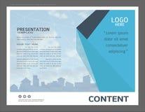 Conception de disposition de présentation pour le calibre de page de couverture d'affaires illustration de vecteur