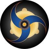 Conception de disque de cercle de collecte illustration de vecteur