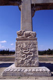 Conception de dragon du passage arqué en pierre images stock
