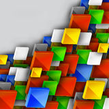 Conception de drapeau de couleur Images libres de droits
