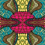 Conception de fête de griffonnage de kaléidoscope Vecteur Image libre de droits