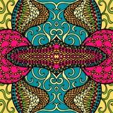 Conception de fête de griffonnage de kaléidoscope Vecteur illustration stock