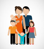 Conception de famille, illustration de vecteur Photo stock
