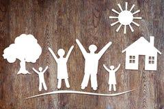 Conception de famille unie et heureuse Photographie stock