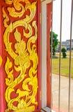 Conception de fenêtre de temple Photographie stock libre de droits
