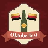 Conception de festival d'Oktoberfest avec l'ilustration de vectot d'icône Photos stock