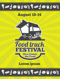 Conception de festival de nourriture de rue d'affiche de vecteur Photographie stock libre de droits