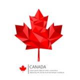Conception de feuille d'érable de Canada Image stock