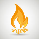 conception de flamme du feu illustration stock