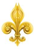 Conception de Fleur-de-lis d'or Images stock