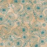Conception de fleur de sarcelle d'hiver sur le fond pâle de café Images stock