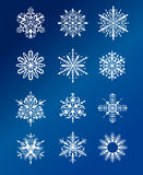 Conception de flocons de neige de Noël Images libres de droits