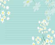 Conception de flore de papier à lettres Photo libre de droits