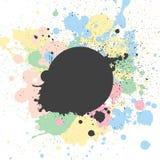 Conception de fond avec la peinture en pastel illustration stock