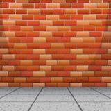 Conception de fond avec le mur de briques illustration stock