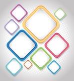 Conception de fond avec les places colorées illustration de vecteur