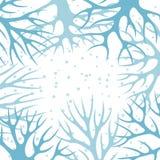Conception de fond d'hiver avec le résumé stylisé Photos libres de droits