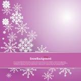 Conception de fond d'hiver du flocon de neige blanc avec l'espace de copie illustration de vecteur