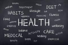 Conception de fond de nuage de Word de santé Photos libres de droits