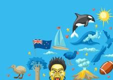 Conception de fond du Nouvelle-Zélande illustration stock