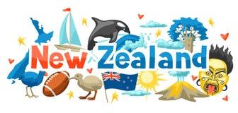 Conception de fond du Nouvelle-Zélande illustration de vecteur