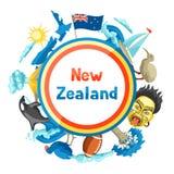 Conception de fond du Nouvelle-Zélande illustration libre de droits