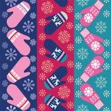 Conception de fond de vacances avec les mitaines tricotées illustration de vecteur