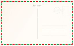 Conception de frontière de carte postale de cru Calibre postal de design de carte de voyage illustration de vecteur
