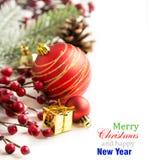 Conception de frontière de décoration de Noël Photo stock