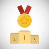 Conception de gagnant Bille 3d différente Illustration plate Photos libres de droits