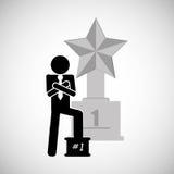 Conception de gagnant Bille 3d différente Illustration plate Photo libre de droits