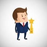 Conception de gagnant Bille 3d différente Illustration plate Photos stock