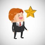 Conception de gagnant Bille 3d différente Illustration plate Image libre de droits