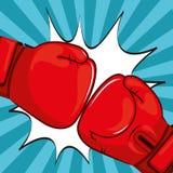 Conception de gants de boxe Images libres de droits