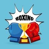 Conception de gants de boxe Image libre de droits