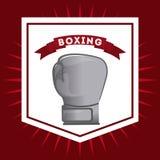 Conception de gants de boxe Photographie stock
