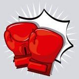 Conception de gants de boxe Image stock