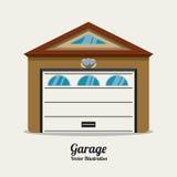 Conception de garage Photo libre de droits