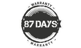 conception de garantie de 87 jours, le meilleur timbre noir illustration stock