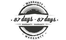 conception de garantie de 87 jours, le meilleur timbre noir illustration libre de droits