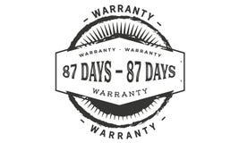 conception de garantie de 87 jours, le meilleur timbre noir illustration de vecteur