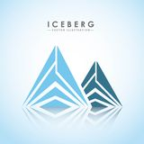 conception de glacier d'iceberg Image libre de droits